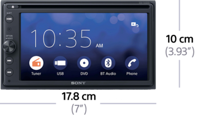 "Picture of 16.3cm (6.4"") DVD  Receiver with BLUETOOTH®"