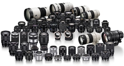 Sony family of lenses