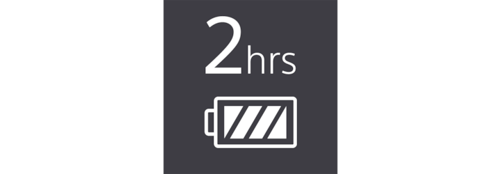2-hour battery life