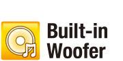 Built-in woofer logo