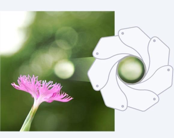 Khẩu độ tròn cho hiệu ứng bokeh mịn màng