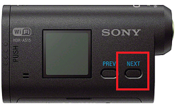 HDR-AS15 NEXT Button