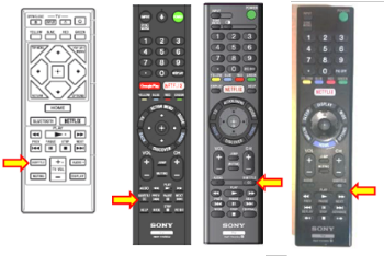 CC Button on remote
