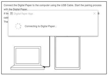 Connecting to Digital Paper