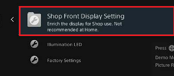 Shop front display setting