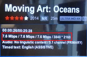 When streaming Netflix Ultra HD, the image is not in 4K