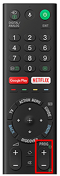 Remote control with PROG button.