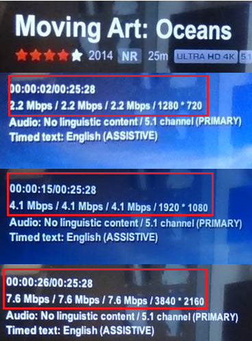 When streaming Netflix Ultra HD, the image is not in 4K  | Sony SG