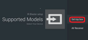 How to setup the IR Blaster to control the TV and a set-top box