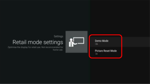 How do I turn off or exit the DEMO mode setting on my TV? | Sony UK