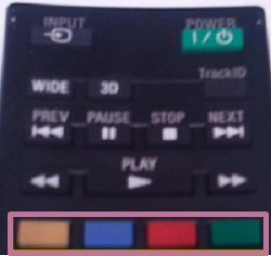 How to use the colored buttons on the remote control while