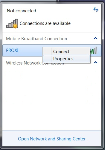 How to set up a WWAN with Windows 7 network connections