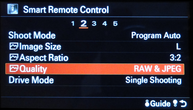 Smart Remote Menu - Quality