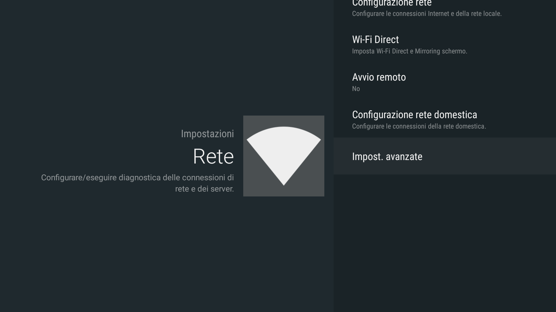 Android - Network advanced settings (Android - Impostazioni avanzate rete)