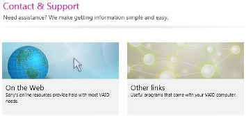 Vaio Care Contact and Support