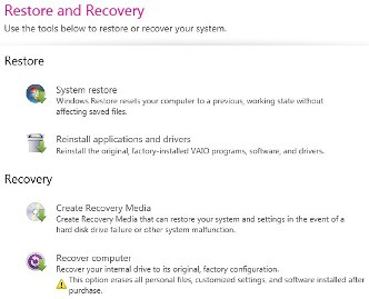 Restore and Recovery