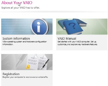 About your Vaio