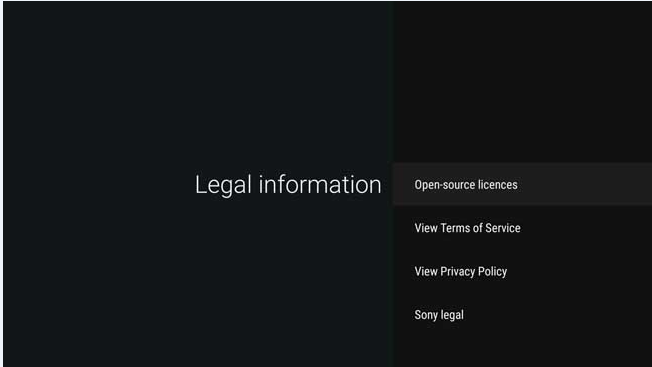 Android - View privacy policy