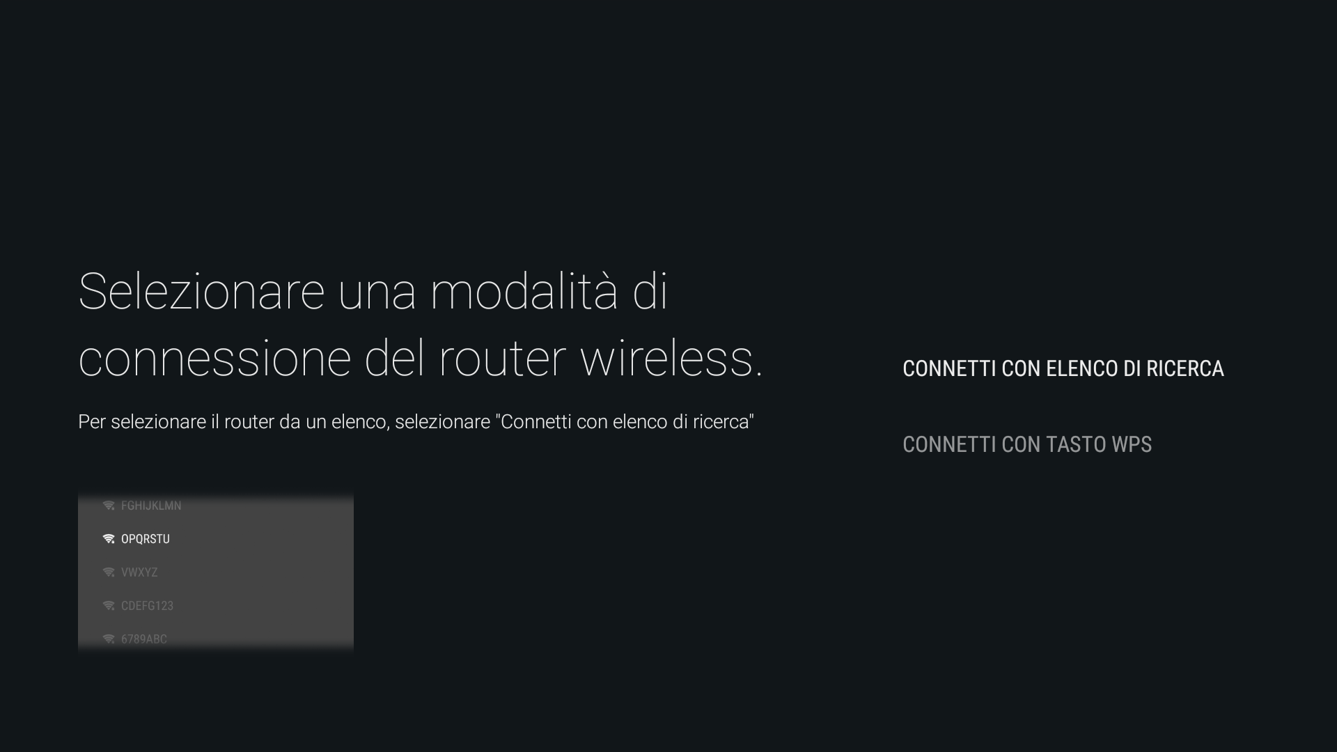 Android - Connect by scan list (Android - Connessione tramite elenco scansione)