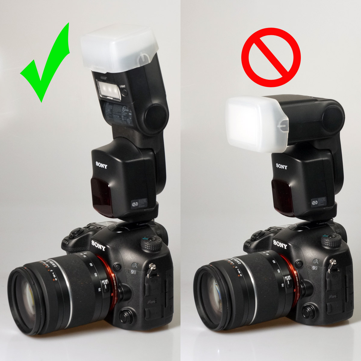 Correct use of HVL-F60M Bounce Adaptor
