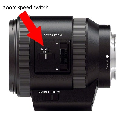 Put zoom speed switch to L position.
