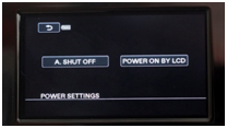 camcorder power setting