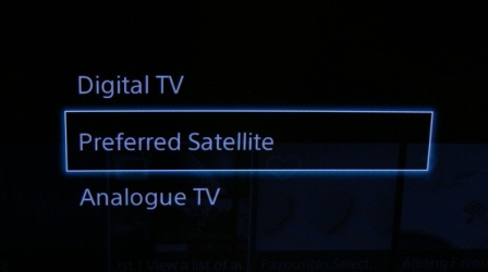 Digital Analog Satellite selection