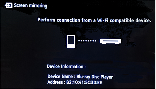 Screen mirroring - connect devices