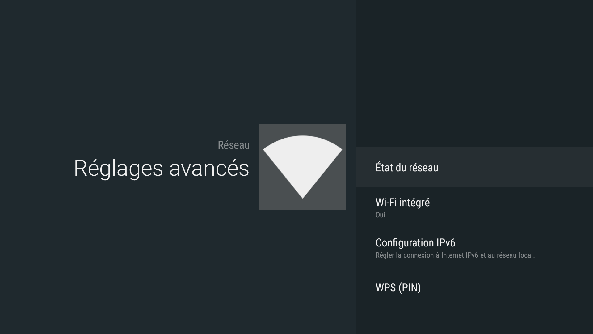 Android - Built-in wifi (Wi-Fi intégré)