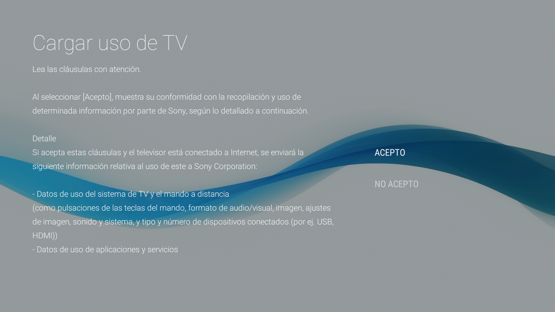 Android - Cargar uso TV