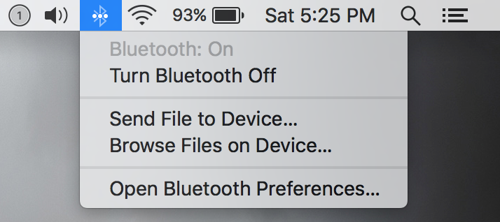 Ativação do Bluetooth no iOS MAC
