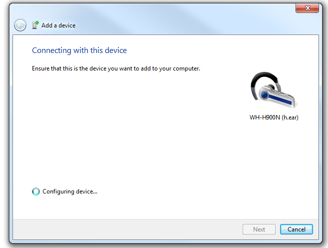 Windows 7 Association Bluetooth 2