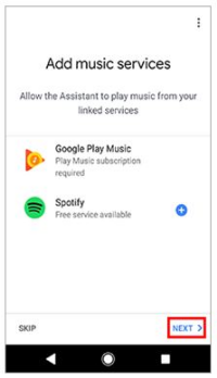 Add music services
