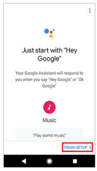 Just start with Hey Google