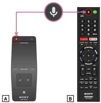 My TV doesn't respond to voice commands using the remote control