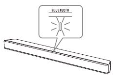 Bluetooth indicator flashing