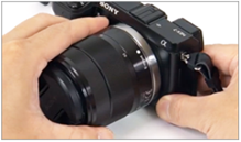 Image depicting attachment of the lens to the camera