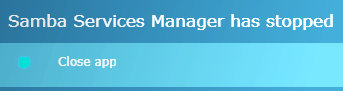 Samba_Services_Manager_has_stopped