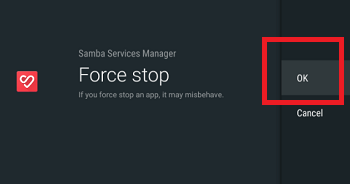 Samba Services Manager has stopped Message Keeps Appearing