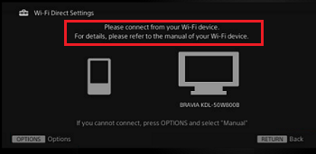 Wi-Fi Direct connection