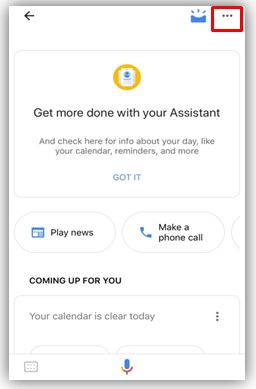 iOS Settings Google Assistant