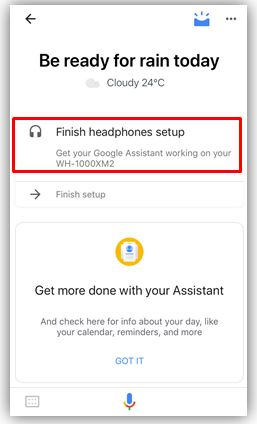 Finish iOS Google Assistant setup