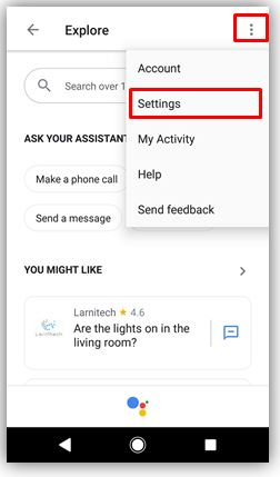 How to access settings