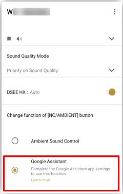 Select Google Assistant