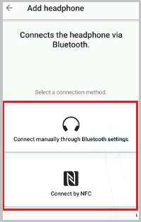 Select a Connection Method