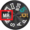 mode dial showing MR