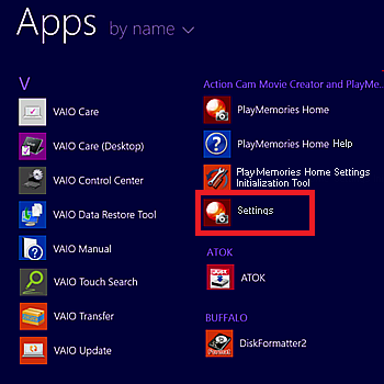 Windows 8.1 Select Settings