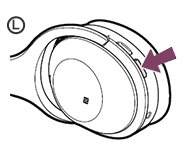 image indicating WH-1000XM2 power button location