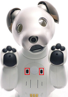 aibo's ranging sensors