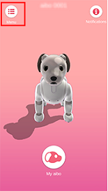 aibo's Menu icon